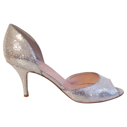 Kate Spade Peep-toes in metallic