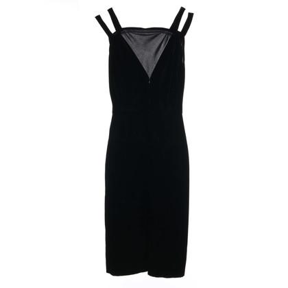 Alaïa Black velvet dress