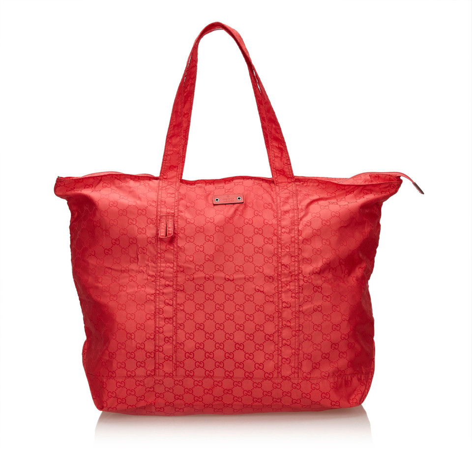 gucci tote bag in rot second hand gucci tote bag in rot. Black Bedroom Furniture Sets. Home Design Ideas