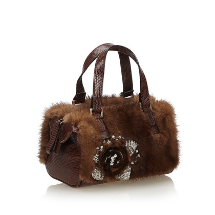 Valentino Handbag with fur trim