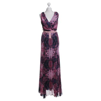 Vera Wang Lange jurk met bloemmotief