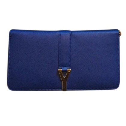 "Saint Laurent ""Cabas Clutch"" in Blau"