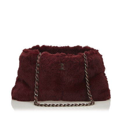 Chanel Shoulder bag with fur trim