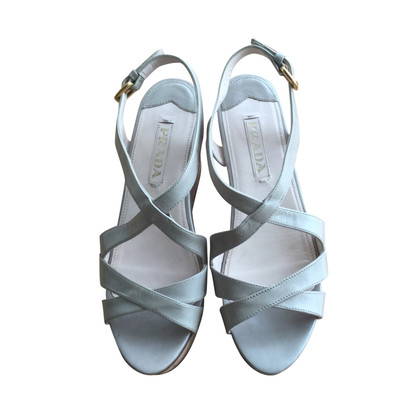 Prada Light gray wedges