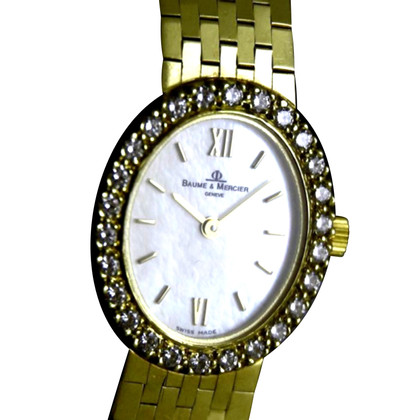 Baume & Mercier Montre en or jaune / diamants 14K