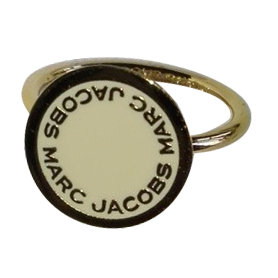 marc jacobs anello color oro con logo compra marc jacobs