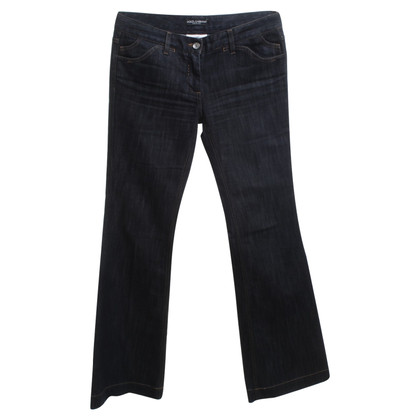 Dolce & Gabbana Boot Cut Jeans in blu scuro