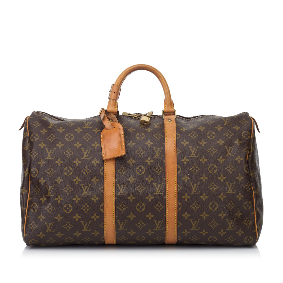 louis vuitton keepall 50 monogram canvas second hand louis vuitton keepall 50 monogram. Black Bedroom Furniture Sets. Home Design Ideas