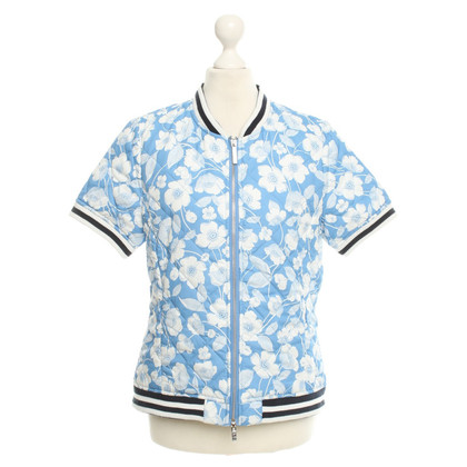 Stefanel Short sleeve jacket with floral pattern