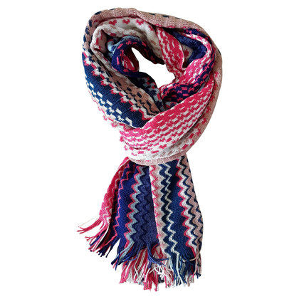 Missoni Scarf in blue / pink