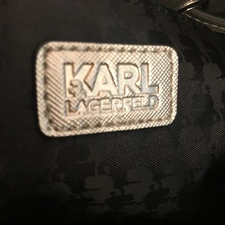 Billig Verkaufen Neu Karl Lagerfeld Goldfarbene Beuteltasche Gold Für Billigen Rabatt ZSoI4Rlc
