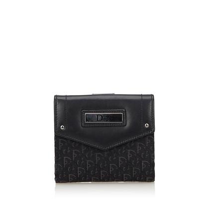 Christian Dior Portemonnee in zwart