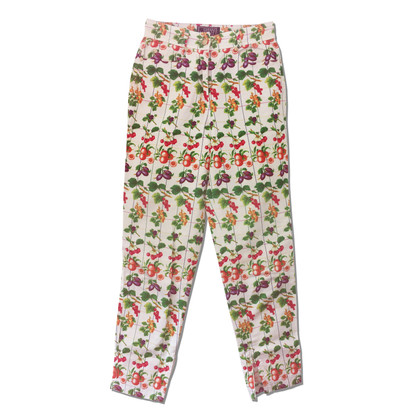 Gianni Versace Capri-trousers with fruit print