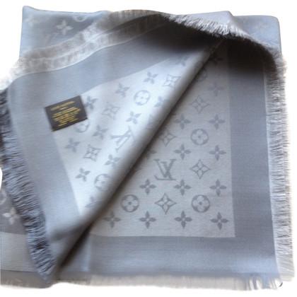 Louis Vuitton Panno monogramma lucido in grigio