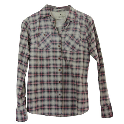 Maison Scotch Shirt blouse with plaid pattern