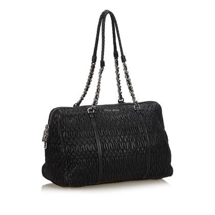 Miu Miu Tote Bag op zwart