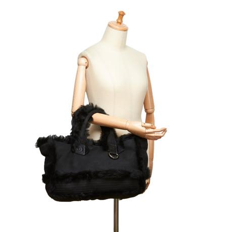 Chanel Handtasche mit Pelzbesatz Schwarz Blättern Günstigen Preis Freie Verschiffen-Spielraum Spielraum Angebote Lieferung Frei Haus Mit Paypal 2cjbIEiFjH