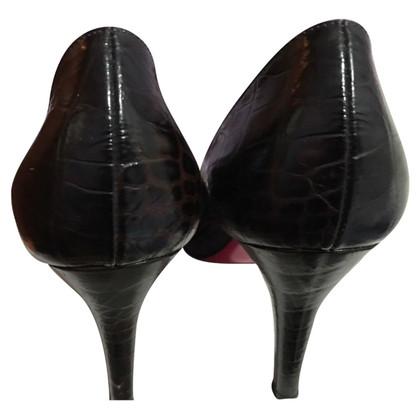 Luciano Padovan Peep-dita dei piedi in look rettile