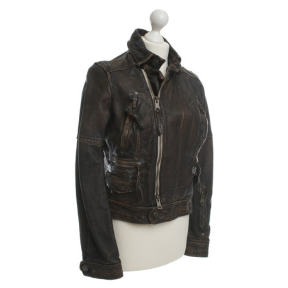 Dsquared2 Lederjacke in Braun