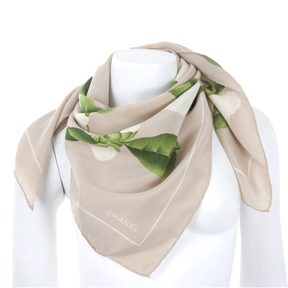 Chanel Silk scarf with camellias