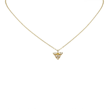 Christian Dior Necklace with diamond heart