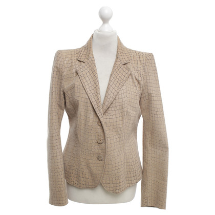 Giorgio Armani Leather jacket in beige