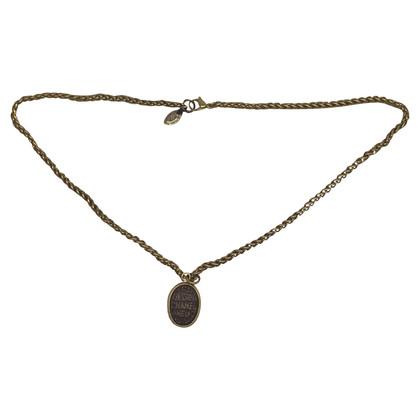 Chanel metalen ketting met gripoix-hanger