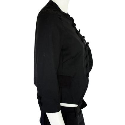 Day Birger & Mikkelsen Zwarte korte jas met zijde terug