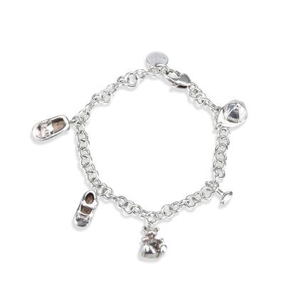 Gucci Silberfarbenes Armband mit Anhängern