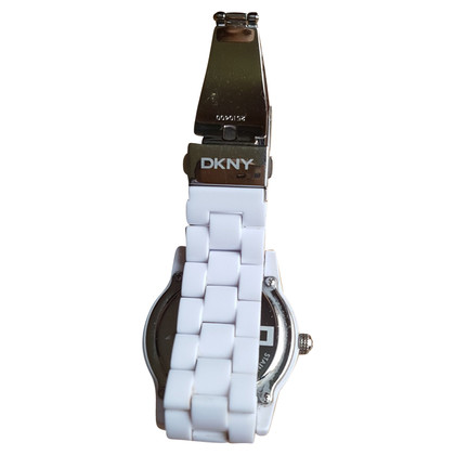 DKNY Clock in white