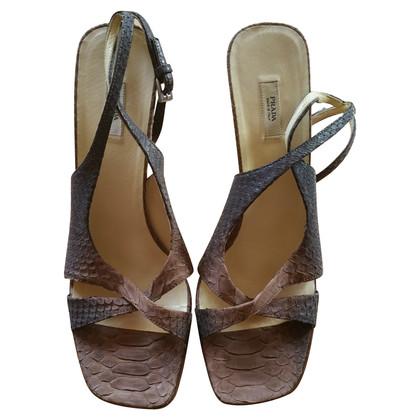 Prada Sandali realizzati in pitone