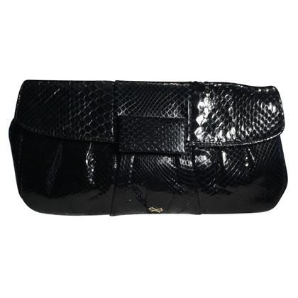 Anya Hindmarch pelle di serpente clutch