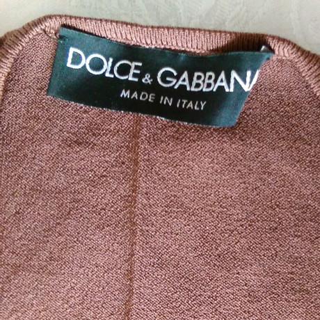 Gabbana Braun amp; Strick Dolce amp; Oberteil Dolce nqxtzwB