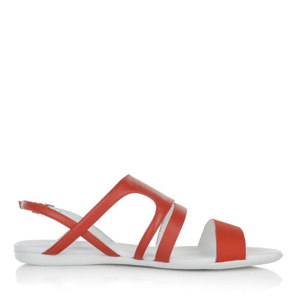 Hogan Sandals in coral red