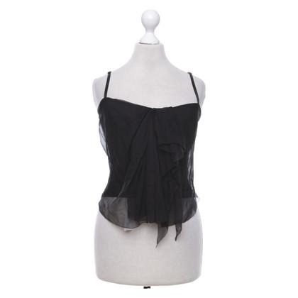 Donna Karan Corsage top in black