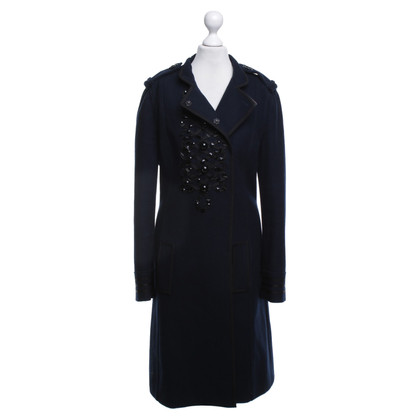 Moschino Long coat in navy blue