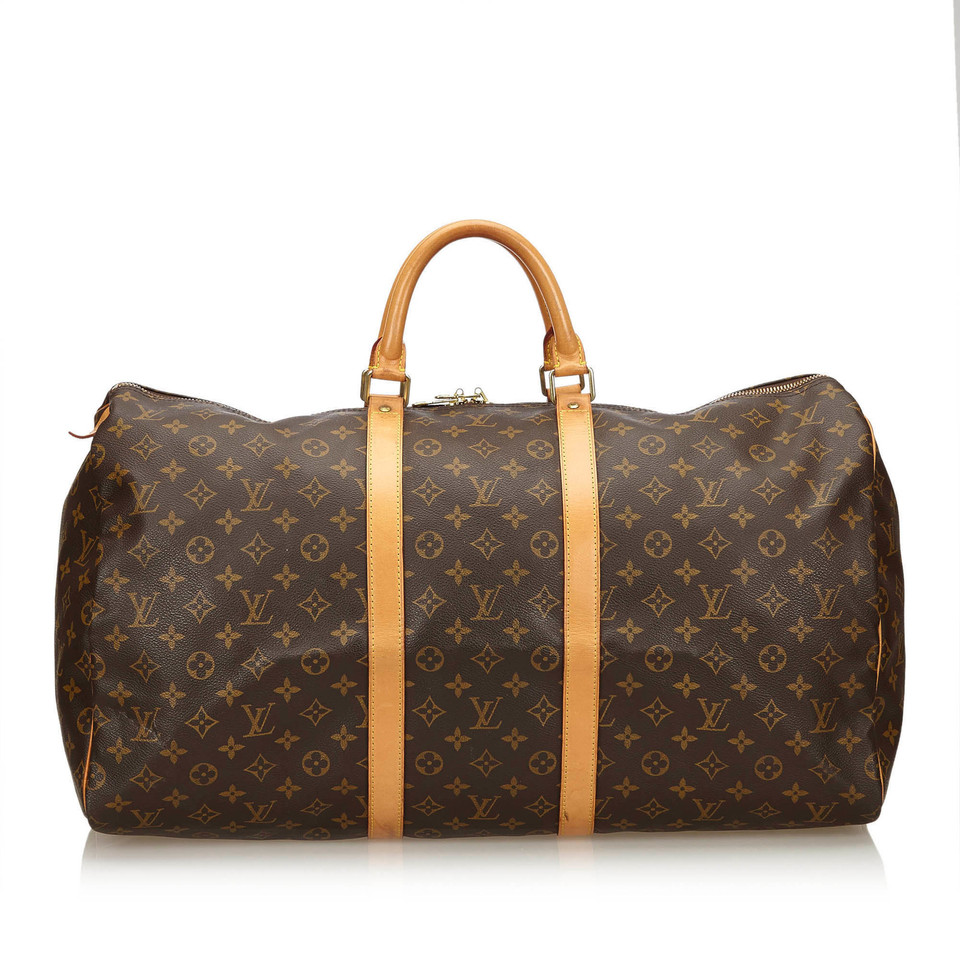 louis vuitton keepall 55 monogram canvas second hand louis vuitton keepall 55 monogram. Black Bedroom Furniture Sets. Home Design Ideas