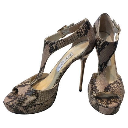 Jimmy Choo Leather Sandals Python