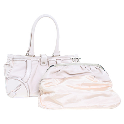 Céline Leather hand bag in nude