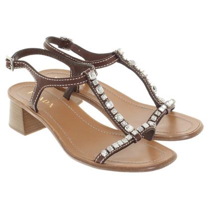 Prada Sandals with gemstones
