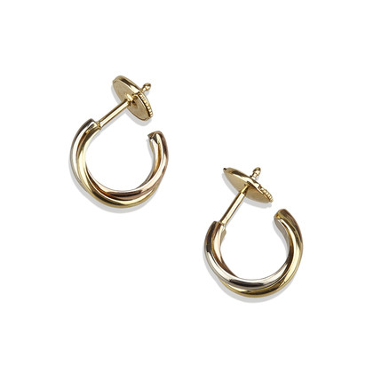 "Cartier 18K ""Trinity Earrings"""