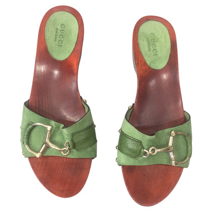 Gucci Clogs in green