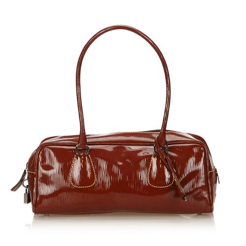 5568d8735fce Prada Patent leather shoulder bag - Second Hand Prada Patent leather ...