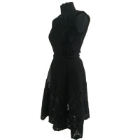 Maje Black Mesh Dress