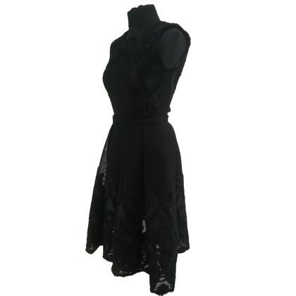 Maje Black Mesh-jurk