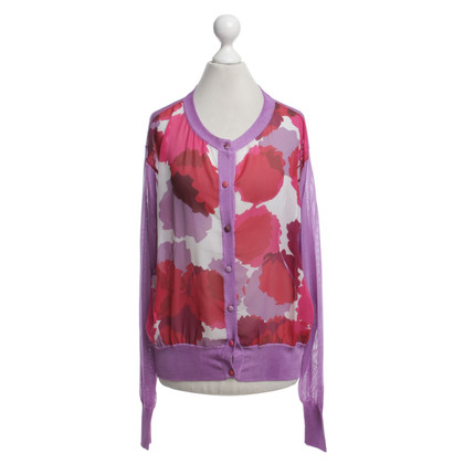 Talbot Runhof Cardigan with floral print