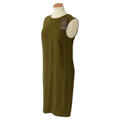 Gucci Schede jurk in olijfgroen