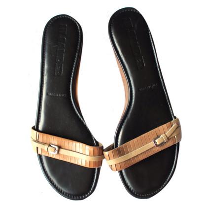 Jil Sander Leren sandalen