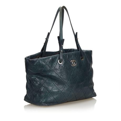 Chanel Tote Bag Blau 2018 Neuer Günstiger Preis NQXntxbb