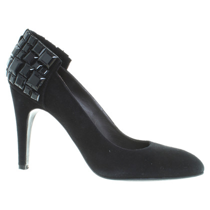 Hugo Boss pumps met halfedelstenen